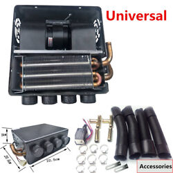 Universal 12V Car Underdash Compact Heater Kit w Pure Copper Tube+Speed Switch