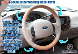2001 2002 2003 Ford F-150 F150 King Ranch - 4-seam Leather Steering Wheel Cover