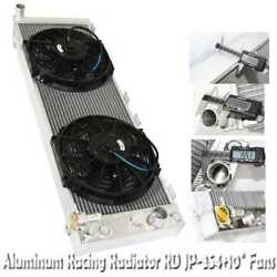 3 Core Performance Racing Radiator+10 Fans For 91-01 Jeep Cherokee 4.0l I6 Ohv