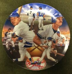 Sports Impressions Plates Yankee Tradition Mickey Mantle amp; Don Mattingly #1094