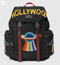 GUCCI Hollywood Bag Backpack Rucksack Purse Michele Embroidery Auth Mint Rare