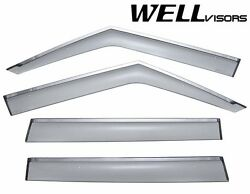 Wellvisors For 03-12 Range Rover Chrome Trim Side Window Visors Deflectors