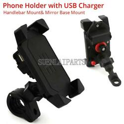 Motorcycle 4-6 Phone Holder Usb Charger For Suzuki Boulevard M109r M50 M90 M95