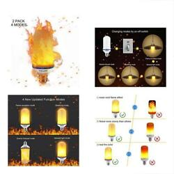 Texsens LED Bulbs Flame Effect Light - 4 Modes Flickering Fire With Upside-Down