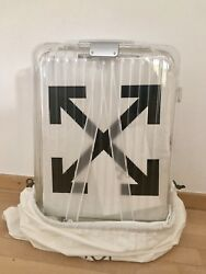 Off White X Rimowa Collaboration See Through Suitcase In Hand Ready To Ship