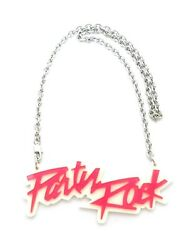 NEW PARTY ROCK PINK PENDANT 5mm 18quot; LINK CHAIN FASHION NECKLACE RC3197R