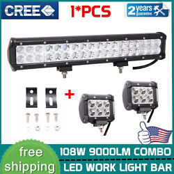 17inch 108w Led Work Light Bar Flood Spot Combo Ford Offroad And 18w Work Light