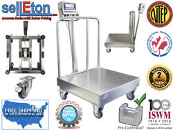 Op-915ssbw Ntep Stainless Steel Washdown Bench Scale With Wheels And Backrail