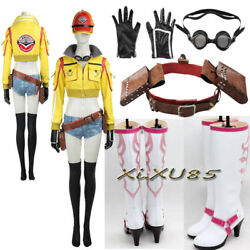 Final Fantasy Cindy Aurum Cosplay Costume Mechanic Jacket Hat Boots Any Size