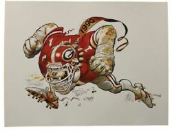1990 University of Georgia Bulldog Jack Davis Print