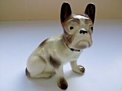 Vintage Ceramic Porcelain Frenchie Figurine Chip on Ear French Bull Dog