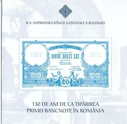 Test Note Romania 130 Years 1881 2011 Unc Polymer Banknote Specimen Only 500 Rrr