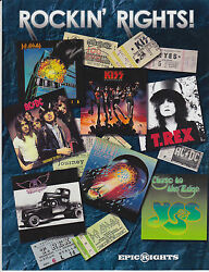 2015 ROCKIN RIGHTS LARGE PROMO CARD KISS ACDC T. REX YES DEF LEPPARD AEROSMITH