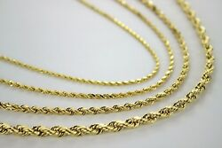Authentic 18k Solid Yellow Gold Rope Chain 2mm7mm/1630