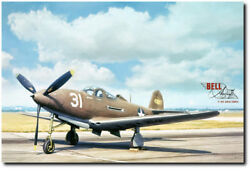 Bell P-39 Airacobra By Peter Chilelli - Wwii American Fighter - Aviation Art