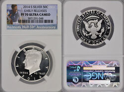 2014 S Silver Kennedy Half Ngc Pf70 Ultra Cameo Silver 50c Early Releases