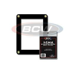 10 BCW BLACK BORDER 4 SCREW BASEBALL TRADING CARD HOLDER SCREWDOWN PROTECTOR