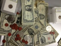 Estate Lot6125 Red/blue Seal 1928-1963 Currency Notes+gold+silver+moreand20