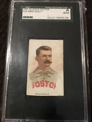 1887 N28 Allen And Ginter Mike Andldquokingandrdquo Kelly Hof Boston - Sgc Authentic Very Rare