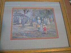 L Gordon Holiday Trolley Limited Edition Signed/numbered Print Framed