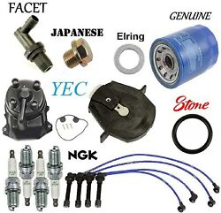 Tune Up Kit Oil Filter Spark Plugs Wire Fit Honda Civic Cx Dx Lx 1.6l 1998