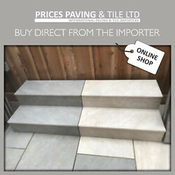 Porcelain Paving Bull Nosed Steps And Risers Rectified Vitrified In 7 Colours