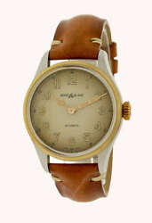 185 Stainless Steel 40mm Automatic Brown Leather Menand039s Watch 119065