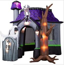 10ft Newstyle Halloween Inflatable Haunted House With Led Lights Decoration T