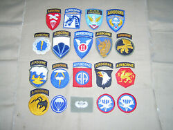 Awesome Ww2 Us Army Airborne Infantry Patch Grouping