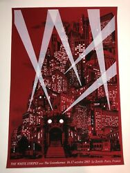 White Stripes Paris France Jack White 2005 Art Print Poster Rob Jones