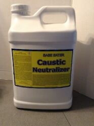 Base Eater Caustic Neutralizer Liquid Safety Spill Clean Up 2.5 Gallon Bottle