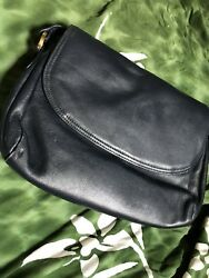 CHARTER CLUB~Black Leather Purse Designer  Handbag Fashion Club Storage Travel