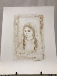 Edna Hibel 1917-2014 Artist Proof And Pencil Titled Anna Signed