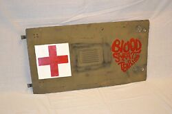 Replica Vietnam Helicopter War Art On Original Uh1h Panel Blood Sweat And Tears