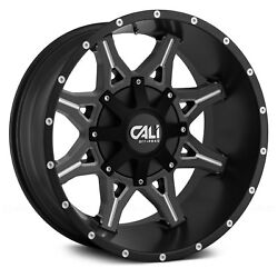 Cali Offroad 9107 OBNOXIOUS Wheels 20x9 (0 6x139.7 78.1) Black Rims Set of 4