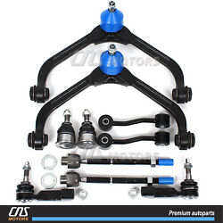 10pc Front Upper Control Arm Ball Joints Tie Rod Ends For 2002-2004 Jeep Liberty