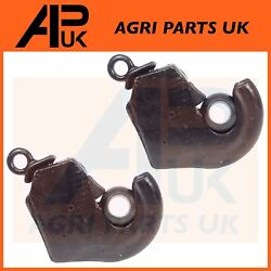 2x Cat 2 Link Arm Quick Hitch Ball Hook Weld On End For Ford New Holland Tractor