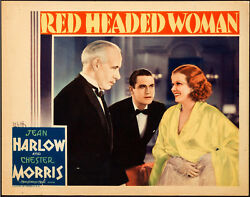 Movie Poster Red Headed Woman 1932 Lobby Card 11x14 Vf 7.5 Jean Harlow