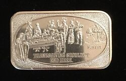 Thanksgiving Shouldn't End Here Pilgrims And Indians 999 Silver Art Bar 1 Troy Oz
