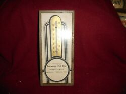 Vintage Lawson Oil Co Thermometer Spencer Iowa Phone 268 8 X 3 1/2 Works