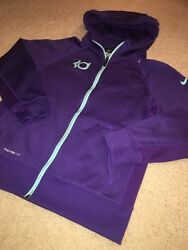 NIKE Therma-Fit Kevin Durant KD Purple Full Zip Hoodie Youth Girl's LARGE BNWOT!