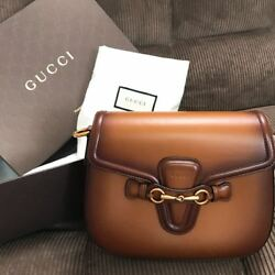 GUCCI ladyweb Handstain Leather Shoulder Bag 2016 Limited Rare Antique Gold
