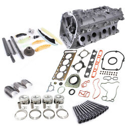 Engine Gasket Timing Piston Ring Kit Andcylinder Head Andvalves For Audi A3 S3 Q3 Q5