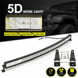 """52"""" Inch Tri Row Led Work Light Bar Combo Beam Off Road Truck Driving Boat 4wd"""