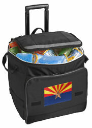 Arizona Flag Rolling Cooler Bag with Wheels-GREAT FOR TAILGATING!