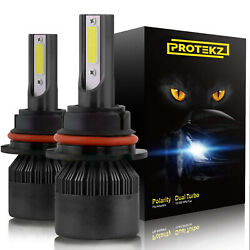 Protekz Led Headlight Kit 9007 Hb5 High And Low 1200w 6k For Ford Escort 1990-2003