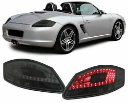 SMOKED LED TAIL LIGHTS LAMPS FOR PORSCHE BOXSTER 987 & CAYMAN 11/2004-12/2009