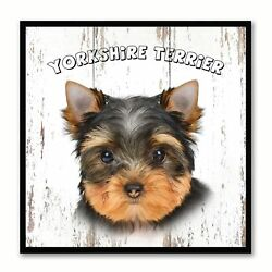 Yorkshire Terrier Dog Canvas Print Picture Frame Gift Home Decor Wall Art Decora