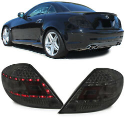 All Smoked Led Tail Lights Lamps Mercedes Slk R171 3/2004-2/2011 Christmas Gift