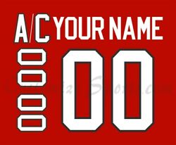 Iihf Team Canada Customized Number Kit For 2010 Red Hockey Jersey